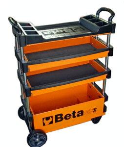 Beta ベータ 折り畳み式ツールトローリー(オレンジ) ★C27S