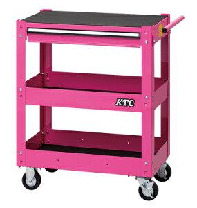 京都機械工具(KTC) ツールワゴン 3段1引出し ピンク SKX2613P