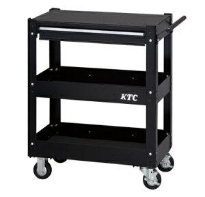 京都機械工具(KTC) ツールワゴン 3段1引出し ソリッドブラック SKX2613BK