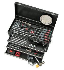 京都機械工具(KTC) ツールセット ツールチェスト ブラック 69点組 SK36920XBK (SK SALE 2020)
