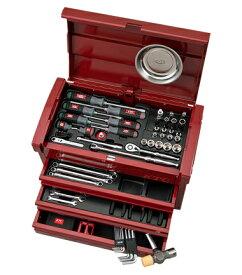 京都機械工具(KTC) ツールセット ツールチェスト パールレッド 68点組 SK36820EPR (SK SALE 2020)