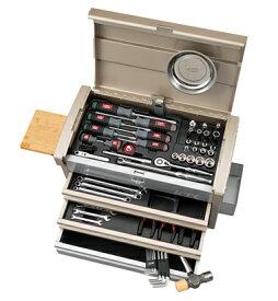 京都機械工具(KTC) ツールセット ツールチェスト シャンパンゴールド×シルバー 68点組 SK36820ECG (SK SALE 2020)