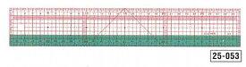 クロバー 方眼定規 30cm 25-053 適度な柔軟性を持つソーイング定規