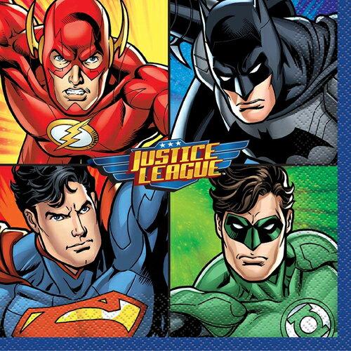 [限定1] 輸入品 ジャスティスリーグ フラッシュ グリーンライト スーパーマン バットマン 海外デザイン 紙ナプキン パーティー アニバーサリー