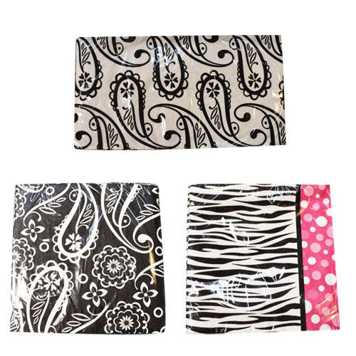 [限定1] 輸入品 ゼブラ柄&ペーズリー柄 紙ナプキン パーティー アニバーサリー 3デザインセット