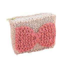 [送料無料] オリムパス Olympus 毛糸で編む「編み付けファスナーポーチキット」 リボンポーチ(棒針) AK-2 手芸 手作り 洋裁