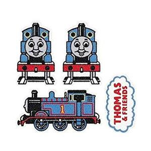 フロッキーワッペン トーマス FL7 1台紙4枚入り 3台紙セット オリムパス アイロン接着
