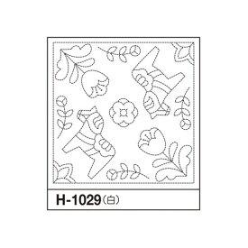 オリムパス Olympus 北欧モチーフ 花ふきん(白)ダーラナホース 3枚セット H-1029 花ふきん布パック 手芸 手作り 刺し子