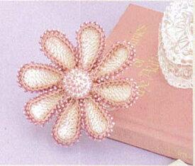[送料無料] オリムパス Olympus ビーズクロッシェキットEG-106 ガーベラのコサージュ Beads Crochet Kit 手芸 手作り 洋裁