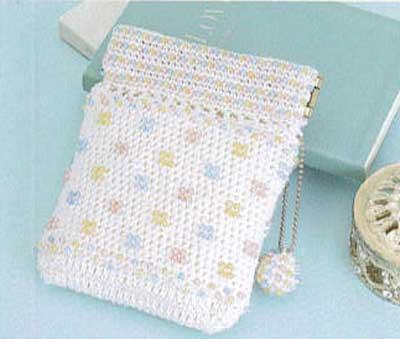 【送料無料】オリムパス Olympus ビーズクロッシェキットEG-107 ドット模様のポーチ Beads Crochet Kit 手芸 手作り 洋裁 ママ割り