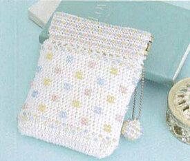 [送料無料] オリムパス Olympus ビーズクロッシェキットEG-107 ドット模様のポーチ Beads Crochet Kit 手芸 手作り 洋裁