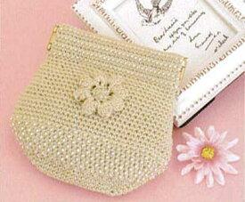 [送料無料] オリムパス Olympus ビーズクロッシェキット お花のポーチ(ベージュ) Beads Crochet Kit[送料無料] 手芸 手作り 洋裁