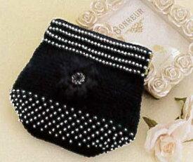 [送料無料] オリムパス Olympus ビーズクロッシェキット EG-109 お花のポーチ(黒) Beads Crochet Kit 手芸 手作り 洋裁
