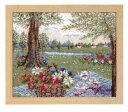 [送料無料] オリムパス Olympus ししゅうキット 物語からの花咲く風景 アリスの木陰のティータイム(ベージュ) 手芸 手…