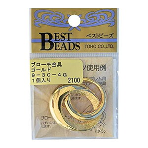 ブローチ金具(カン付) 2個セットトーホー 9-30-4 金具のお色選択