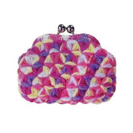 ハマナカ 編みつける口金のリフ編みのがま口 キット B[送料無料] H304-159-2 HAMANAKA