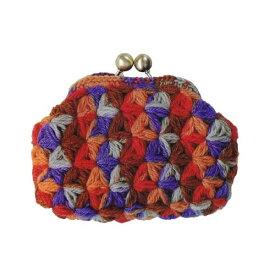 ハマナカ 編みつける口金のリフ編みのがま口 キット C[送料無料] H304-159-3 HAMANAKA