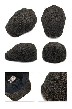 ハリスツイードハンチングキャスケットハンチングキャスケット帽子メンズ大きいサイズ秋冬【ラッピング・送料無料】