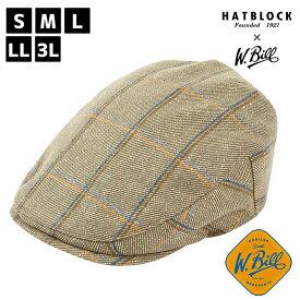 W.Bill オーバーペン ハンチング マルゼ HATBLOCK帽子 大きいサイズ 日本製 ハンチング帽 イギリス メンズ サイズ調節 秋冬 ウール レディース 人気 ゴルフ ギフト 誕生日 プレゼント