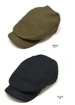麻ジュートハンチングマルゼプラス(帽子メンズ大きいサイズ)