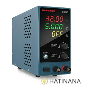 HANMATEK スイッチング電源 可変直流安定化電源 DC電源(0-30 V 0-5 A) 電圧&電流安定電源 低騒音高精度 自動切替 学校の実験室と電気のメンテナンス用 HM305