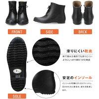 DL101彩りショートレインブーツメンズレディースレインシューズショート丈ローヒールかわいい長靴