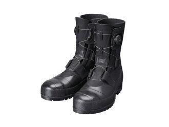 安全高筒靴安全靴橡膠靴工作高筒靴高筒靴作業用作業用高筒靴boa耐滑日本製SB3004(黑色)CE Shibata工業