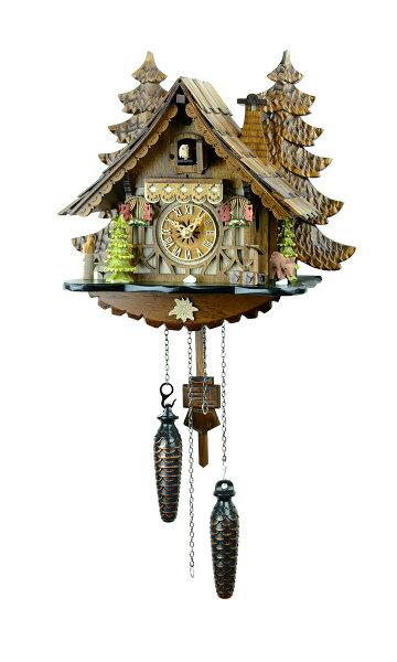 山小屋鳩時計バンビの山小屋409QM