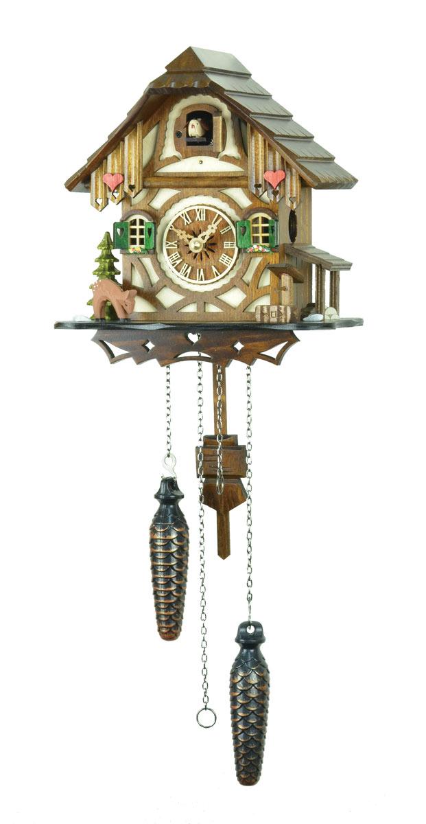 鳩時計 壁掛け時計 ハト時計 はと時計 ポッポ時計 クォーツ式 バンビの山小屋鳩時計 413QM【楽ギフ_包装】10P09Jul16