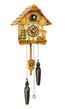 【送料無料】クォーツ式ドイツ鳩時計(はと時計)ちいさな山小屋421QM【楽ギフ_包装】