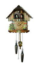 【送料無料】鳩時計ドイツ森の時計山小屋木こりの休憩クォーツ式430-6QMT
