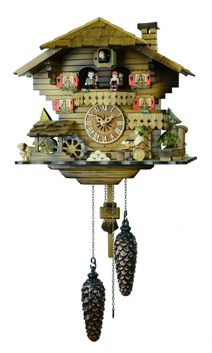 鳩時計 壁掛け時計 ハト時計 はと時計 ポッポ時計 490QMT【ENGSTLER鳩時計ムーブメント】鳩時計【楽ギフ_包装】