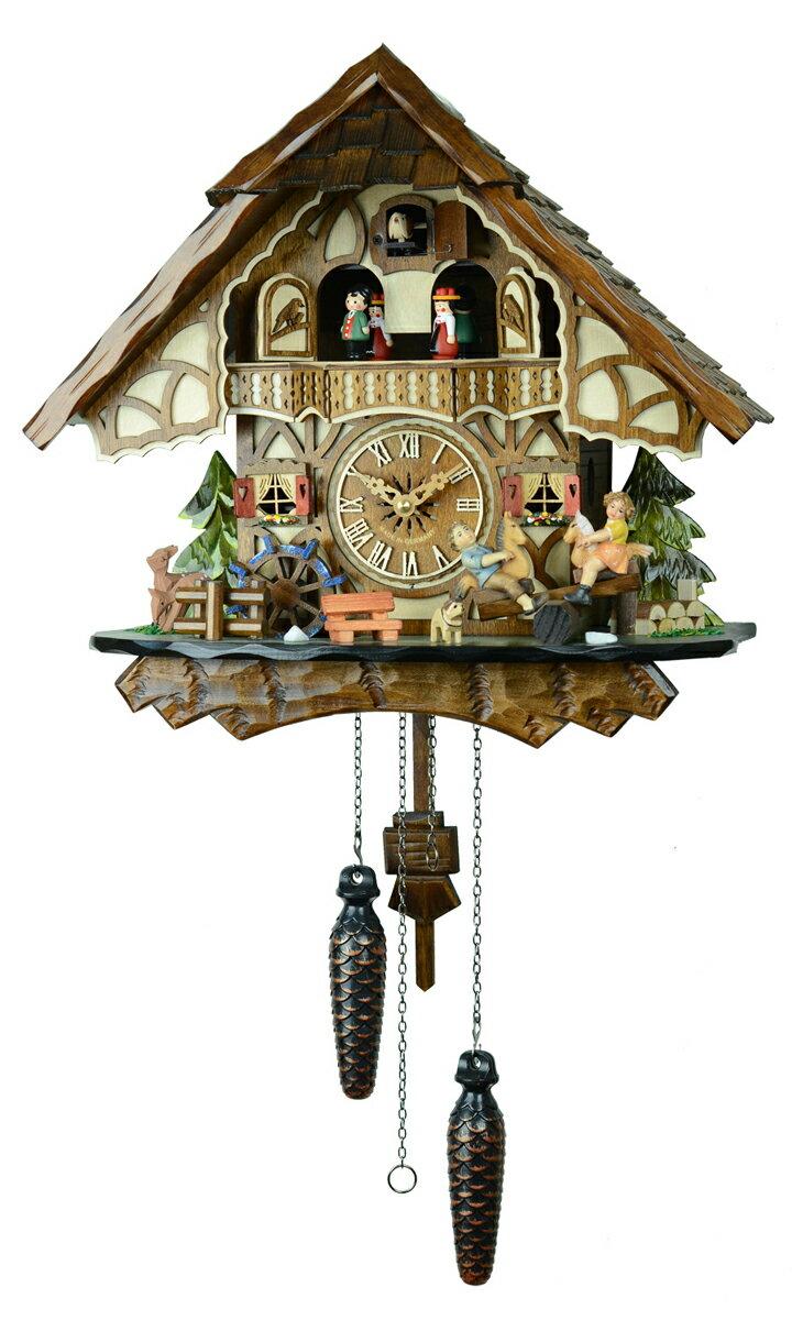 鳩時計 壁掛け時計 ハト時計 はと時計 ポッポ時計 クォーツ鳩時計 子供たちのシーソー 4916QMT【楽ギフ_包装】 10P09Jul16