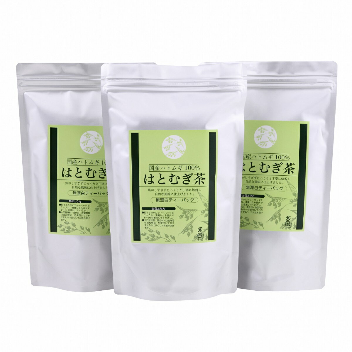 送料無料【3個セット】はとむぎ茶30パック入り) はと麦茶 【はとむぎ茶 国産 100%】(12g×30包入り)