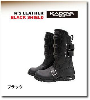 【KADOYA】【カドヤ】K'S LEATHER KS LEATHER BLACK SHIELD ブラックシールド ブーツ【No.4312】【取寄品】