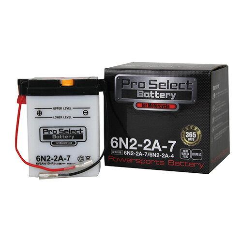 バイクパーツ バイクバッテリー6N2-2A-7(6N2-2A-4互換)Pro Select Battery (プロセレクトバッテリー) 11068228 取寄品