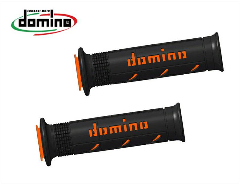 domino グリップ ストリートタイプ ブラックXオレンジ 《ドミノ A25041C4540MOTO GP 》