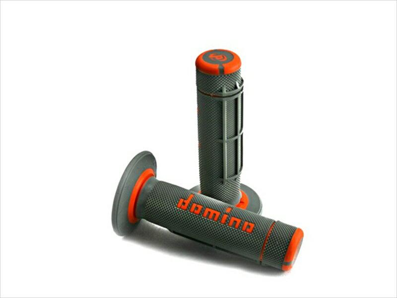 domino グリップ オフロードタイプ クロス グレー×オレンジ 《ドミノ A02041C4552MOTO GP 》