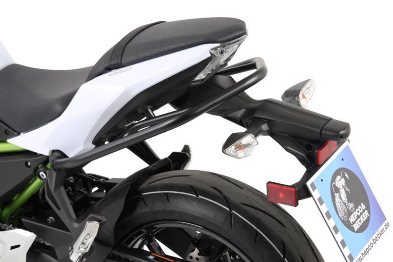 ヘプコ&ベッカ リアガード ブラック Z650 17-18 《ヘプコアンドベッカー 5042527 00 01ツーリング ケース 》