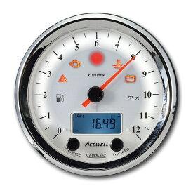エースウェル 多機能デジタルメーター WH CA085-552-W 《エースウェル CA085-552-W》