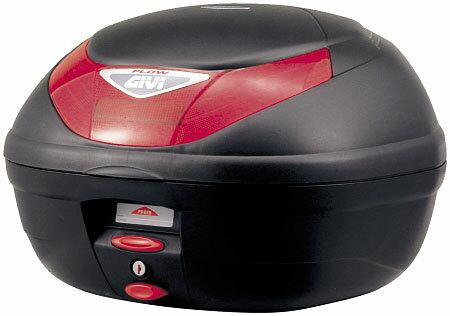 【GIVI】【ジビ】【バイク用】【ボックス】モノロックケース 汎用モノロックベース付き E350N ストップランプなし 未塗装ブラック【68044】