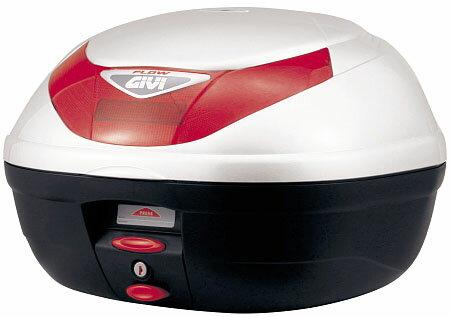 【GIVI】【ジビ】【バイク用】【ボックス】モノロックケース 汎用モノロックベース付き E350B906 ストップランプなし パールホワイト塗装【68041】