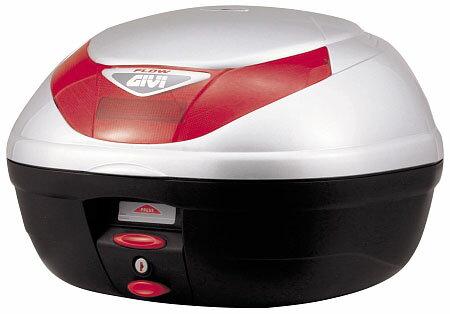 【GIVI】【ジビ】【バイク用】【ボックス】モノロックケース 汎用モノロックベース付き E350G730 ストップランプなし シルバー塗装【68042】