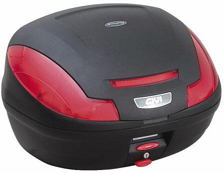 【GIVI】【ジビ】【バイク用】【ボックス】モノロックケース 汎用モノロックベース付き E470ND ストップランプなし 未塗装ブラック【68059】