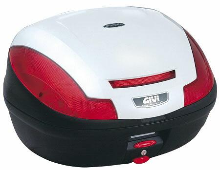 【GIVI】【ジビ】【バイク用】【ボックス】モノロックケース 汎用モノロックベース付き E470B906D ストップランプなし パールホワイト塗装【68056】【送料無料】