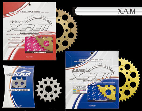 【X.A.M】【ドライブスプロケット】【バイク用】【KAWASAKI】ZX-10R 04&05年式 フロント【C5405】