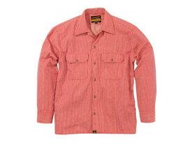 バイク用品 ウェア トレーナー&Tシャツ&シャツヘンリービギンズ HENLY B NHB-1503ワークシャツ Hレッド #M93157 4909449478363取寄品 セール