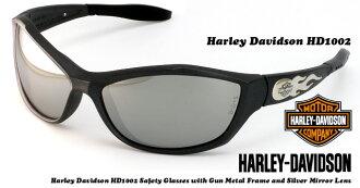 Harley Davidson 太阳镜 HD1002 青铜色框架银镜透镜