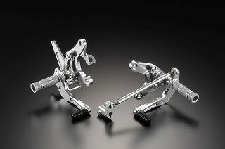 【OVER Racing】【オーバー】【バイク用】BACK-STEP 4POSITION (ドラム) SIL (REAR-SETS 4 POSITION DRUM)【51-01-11】【送料無料】