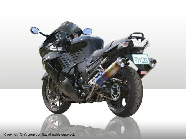 【rs gear】【アールズギア】【マフラー】06-07 ZZR1400 Slip-On type スリップオン ワイバン 真円DB【WK09-03DB】※納期3週間程度【送料無料】